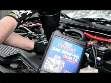 change mazda protege transmission fluid youtube