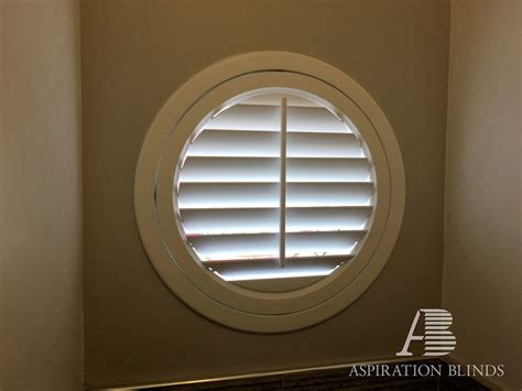special bespoke shape window shutters  aspiration blinds