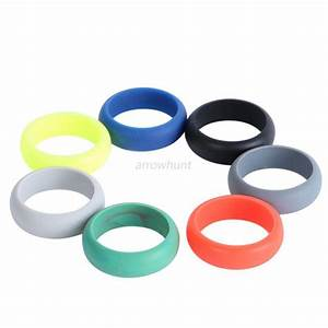 Mens silicone wedding ring band rubber ring flexible for Rubber wedding rings