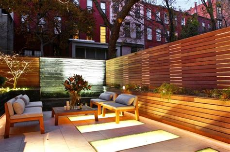west townhouse contemporary patio new york