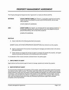 property management agreement template sample form With rental property management documents