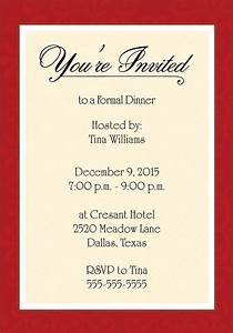 Dinner Invitation Template Free | Places to Visit ...