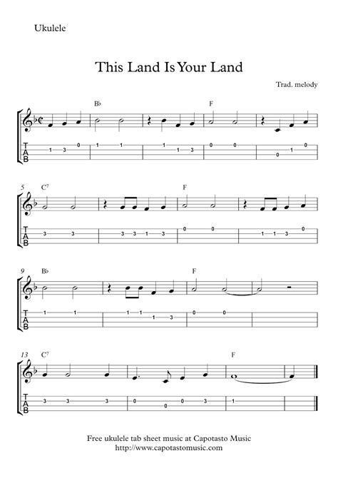 this site you can download free printable sheet music scores and guitar tablature ukulele