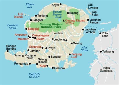 gili islands indonesia map lombok senggigi maps
