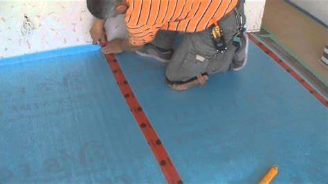 Installing the Underlayment for Laminate Flooring