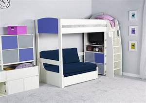 High Bed With Sofa Below