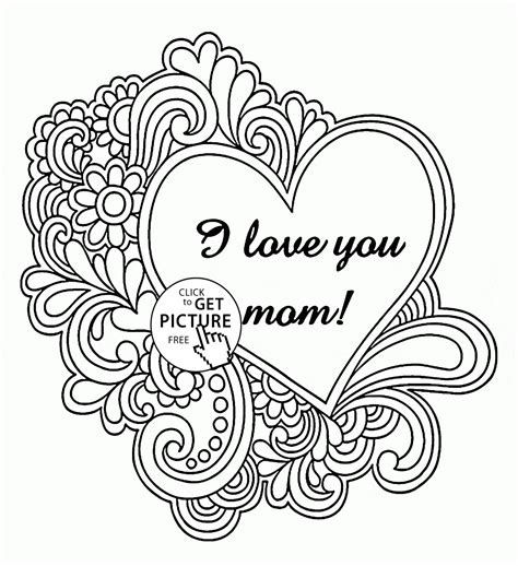 I Love You Mom Coloring Pages Coloring Pages