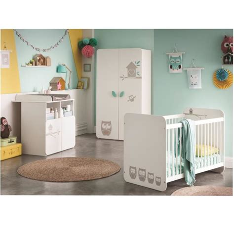 chambre complet hiboux chambre bébé complète lit armoire commode
