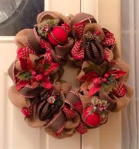 Vintage Burlap Christmas Wreath