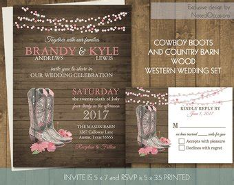 Country Western Bridal Shower Invitation With Cowboy Boots