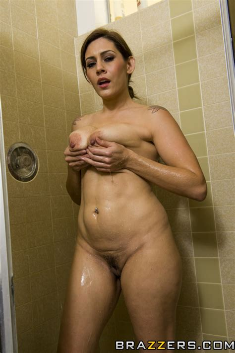 Brunette Milf Raylene Pampering In The Bathroom Milf Fox