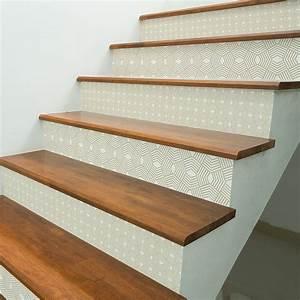 Escalier Carreaux De Ciment : stickers escalier carreaux de ciment ulla x 2 ambiance ~ Dailycaller-alerts.com Idées de Décoration