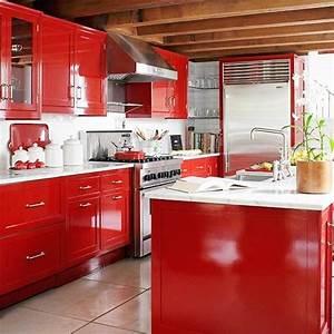 Küche In Rot : k che in rot gestalten das sinnliche rot ~ Frokenaadalensverden.com Haus und Dekorationen