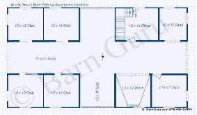 choice 36x48 horse barn plans the jek With 4 stall horse barn designs