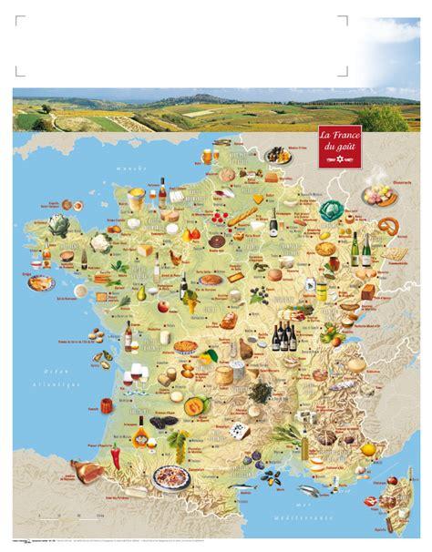cuisine et terroirs carte de touristique arts et voyages