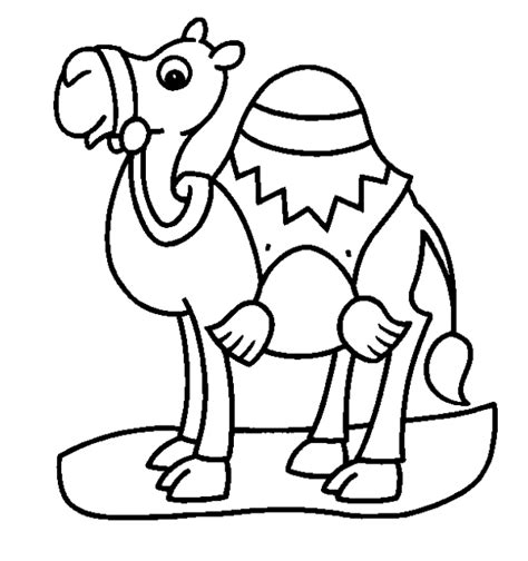 camel coloring pages    print