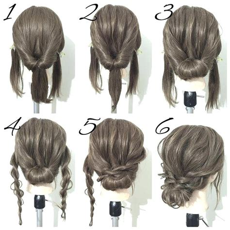 Hair Style Updo Easy Easy Updo Hairstyles How To Create An Easy Twisted Easy