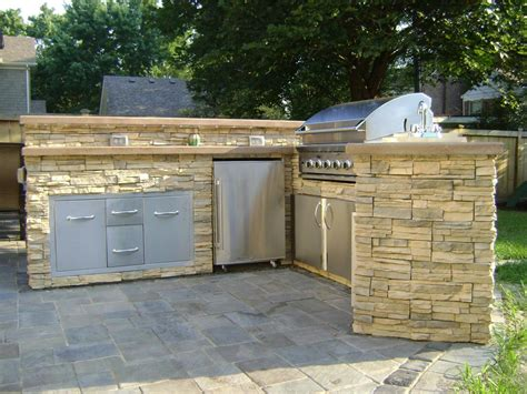 How To Build Outdoor Kitchen Cabinets  Allstateloghomescom