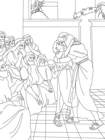 joseph forgives  brothers coloring page coloring pages sons  jacob bible coloring
