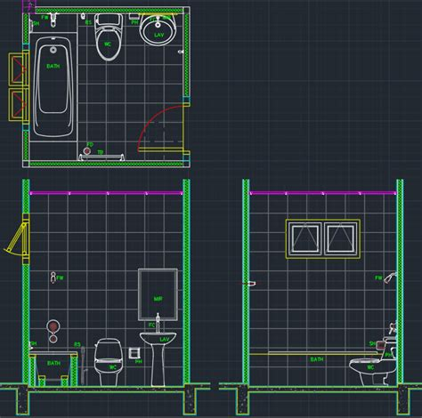 Bathroom Fixtures Cad Blocks by Bathroom Cad Block And Typical Drawing For Designers