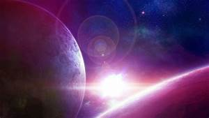 Fondo de pantalla Pink Light Planets HD