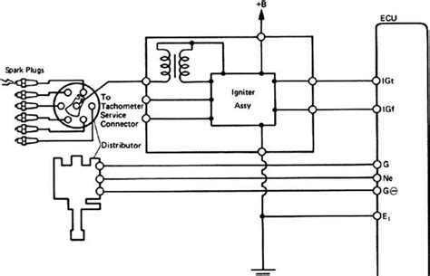 1985 Toyotum Celica Wiring Diagram For Ignition On by Electronic Spark Advance Toyota Celica Supra Mk2 86 Repair