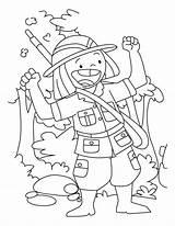 Hunter Coloring Happy sketch template