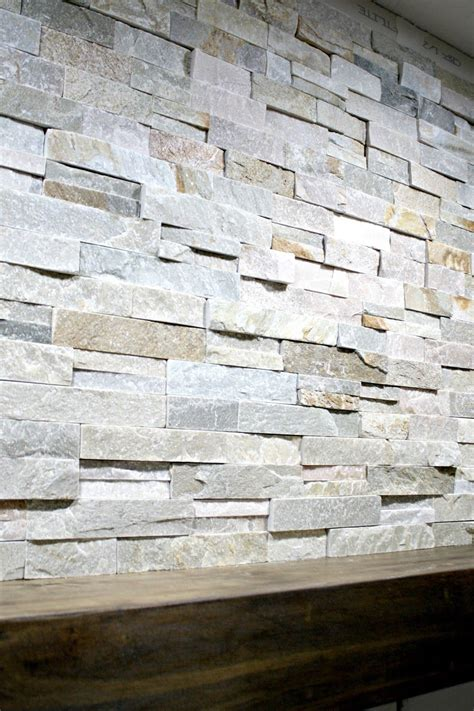 Stein Fliesen Wand by How To Install Stacked Tile On A Fireplace Wall