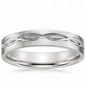 Infinity Men39s Wedding Ring Infinity Scroll Brilliant