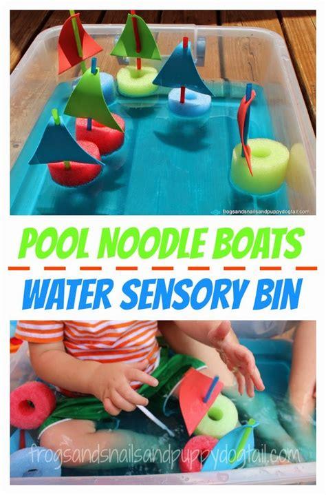 pool noodle boats water sensory bin fspdt 599 | PoolNoodleBoatsWaterSensoryBin