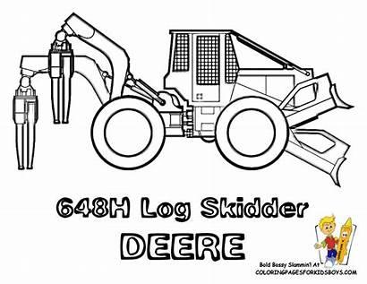 Coloring Skidder Clipart Construction Baumaschinen Cat Digger