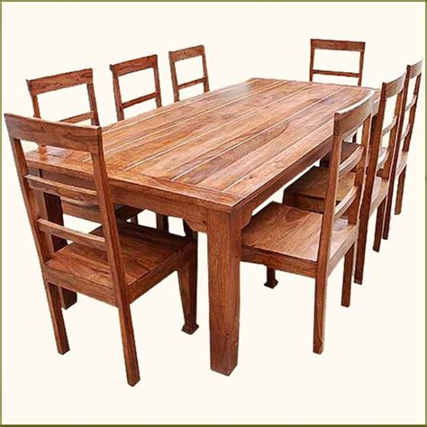 kitchen furnitur 9 pc solid wood rustic contemporary dinette dining room