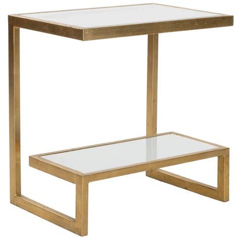 safavieh treasures sullivan gold white top accent table