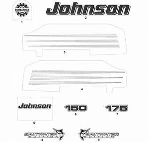 Decals White Models Parts For 2004 150hp J150pxsrb