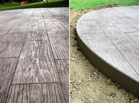 wood plank stamped concrete cost wood plank stamped