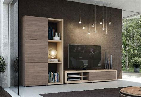 Schrank Wohnzimmer Holz by Modern Wall Storage System With Tv Unit And