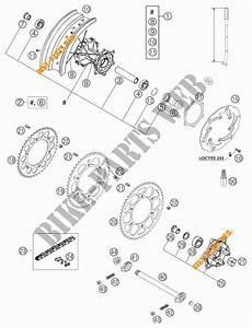 Rear Wheel For Ktm 640 Lc4 Supermoto Orange 2004   Ktm