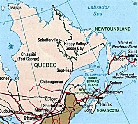 Carte Politique du Québec