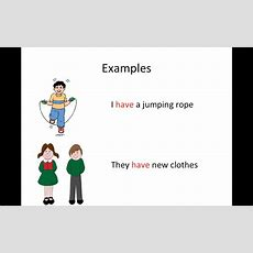 Grade 1 English Grammar  Helping Verbs Has & Have Youtube