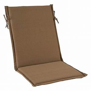 outdoor sling cushion with ties in camel bed bath beyond With bed bath and beyond patio furniture cushions