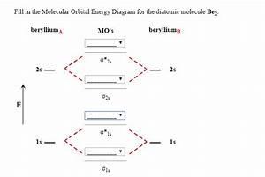 Solved  Fill In The Molecular Orbital Energy Diagram For T