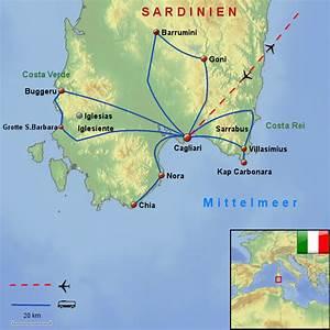 Hotel Sardinien Süden : sardiniens s den von wgawlik landkarte f r sardinien ~ A.2002-acura-tl-radio.info Haus und Dekorationen