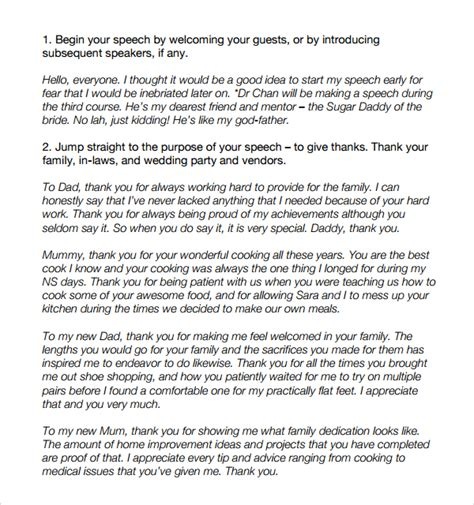 wedding toast exles sle wedding speech exle 7 free documents download in pdf