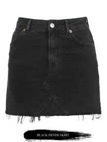 25 best ideas about black denim skirt on pinterest