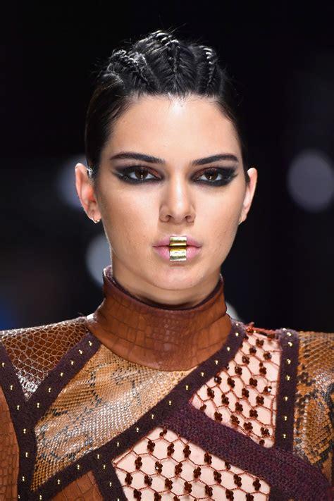 kendall jenner walks balmain show  paris fashion week   celebmafia