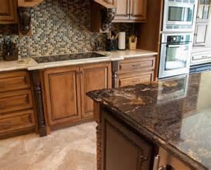 contrasting island and countertops granite kitchen