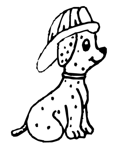 Fire Dog Coloring Pages Az