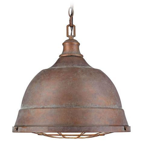 copper pendant light golden lighting bartlett copper patina pendant light