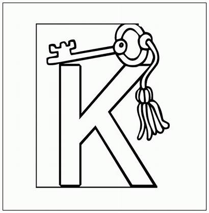 Coloring Key Pages Keyhole Template Letter Colouring