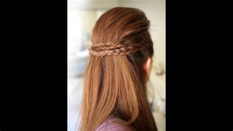 party  braided hairstyle tutorial youtube